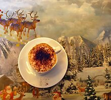 Coffee on a Christmas-table-cover by Arie Koene