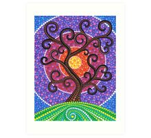 Spiralling Tree of Life Art Print