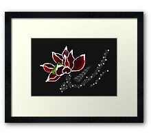 Chinese Lotus Colours. Framed Print