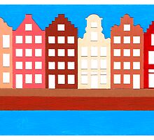 AMSTERDAM CANAL HOUSES by RainbowArt