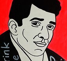 Dean Martin Pop Folk Art by krusefolkart