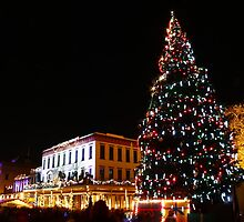 Old Sacramento Holiday Tree by fototaker
