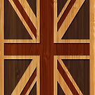 Bamboo Look & Engraved Vintage UK Flag Union Jack by scottorz