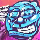 Blue Face Man - Graffiti - Street Art by NicNik Designs