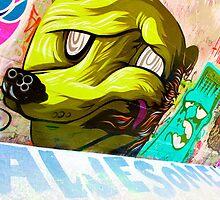 Melbourne Graffiti Street Art - Awesome Bear by NicNik Designs