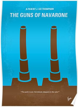 No168 My The Guns of Navarone minimal movie poster by Chungkong