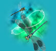 Dragonflies by zombieCraig