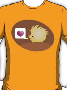 Cute little hedgehog saying LOVE T-Shirt