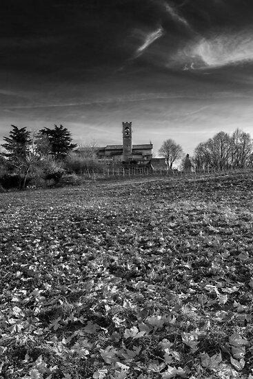 Church on hill by jordygraph