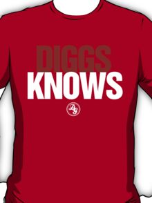 Discreetly Greek - Diggs Knows - Nike Parody T-Shirt
