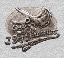 I Dig Dinosaurs Triceratops Skull Kids Clothes
