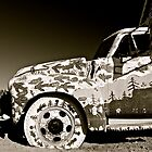 Painted Truck B&amp;W at Salvation Mountain, California  by Jessica Karran