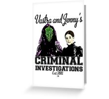 Vastra and Jenny's Criminal Investigations Greeting Card