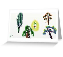 Tree Evolution 2 Greeting Card