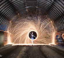 Spinning Steel Wool at Kiama Graveyard by Kerrod Sulter