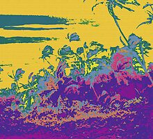 Kauluwela Moku 19 Tropical Island Color Graphic Art by Kenneth Grzesik