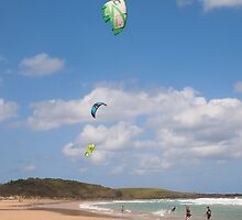 The three kites Yamba NSW Aust (3 grandsons) by Margaret Morgan (Watkins)