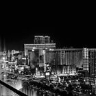 Las Vegas at Night B&W 3 by GJKImages