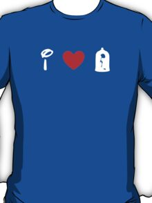 I Heart Beauty and The Beast (Classic Logo) (Inverted) T-Shirt