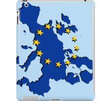 Europe - Flag and map iPad Case/Skin