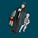 The Doctor, Jamie and a Cyberman by Tim Foley