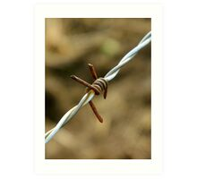Sign of a metalhead..\m/..barbed wire looks like the sign for metal..☺☺☺☺ Art Print