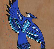 Blue Jay Dancer by Mangeshig