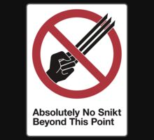 Absolutely No Snikt by Hoomph