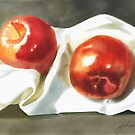 Red Apples Three  by Joan A Hamilton
