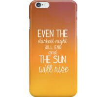 Les Miserables-The Sun Will Rise iPhone Case/Skin