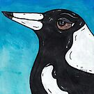 Macca the Magpie by kewzoo
