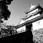 Odawara Castle Black and White by Fike2308
