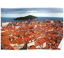Dubrovnik and Lokrum Island Poster