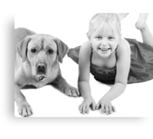 Scooby and Lydia in black and white Canvas Print