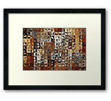 Tile Art #1, 2013. Modern Mosaic Tile Art Painting Framed Print