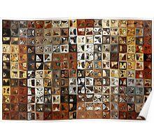 Tile Art #1, 2013. Modern Mosaic Tile Art Painting Poster