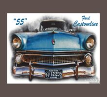 55 Ford Customline, Grill'n - Creative Clothing Kids Clothes