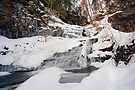 All of Huron Falls In Winter White by Gene Walls