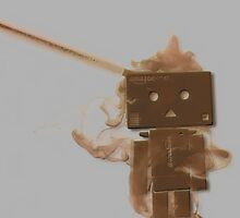 Danbo smoking by TriassicArt