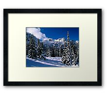 Rural Farm Life Snow Scene Poster Print And Card Framed Print