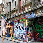 Graffiti in Hosier Lane by Pauline Tims