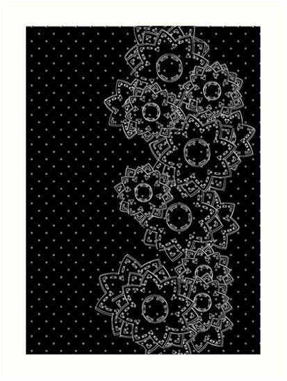 Polka Dot and Flowers Decoration by Medusa81