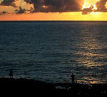 Sunrise Boulder Beach Ballina NSW by Emmy Silvius