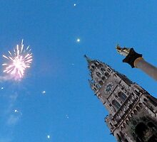 Munich Town Hall Fireworks by ©The Creative  Minds