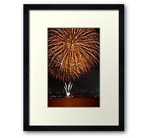 Fantastic Orange Supernova   New Years Eve   Sydney Harbour Framed Print