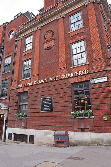 The hung drawn and quartered pub in London by Keith Larby
