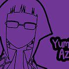 Yumi Azusa silhouette print by sweetsheart