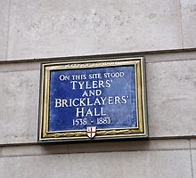 Tilers & bricklayers Hall sign by Keith Larby