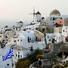 Oia at dusk by Paige