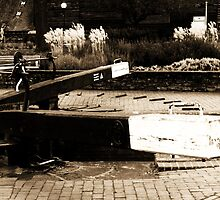 Canal Locks in Stratford-Upon-Avon by kelly-m-wall